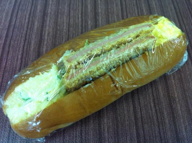 ハムカツロール130円